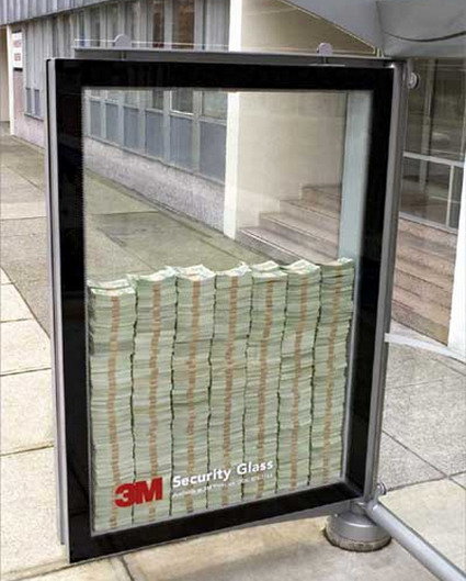 Geld Werbung Guerilla Marketing