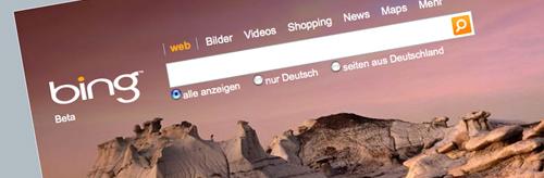 Bing Suchmaschine Microssoft